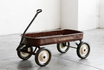 1950s Child's Pull Wagon with Worthington Logo