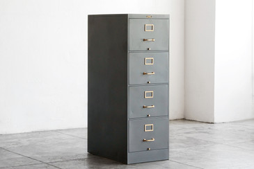 SOLD - 1930s Vertical File Cabinet by Peerless Co., Refinished