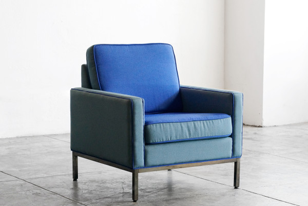 Steelcase lounge chair refinished in knoll chroma rehab vintage