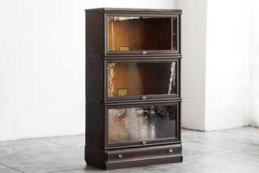 Globe Wernicke Antique Lawyer Bookcase in Oak, circa 1900