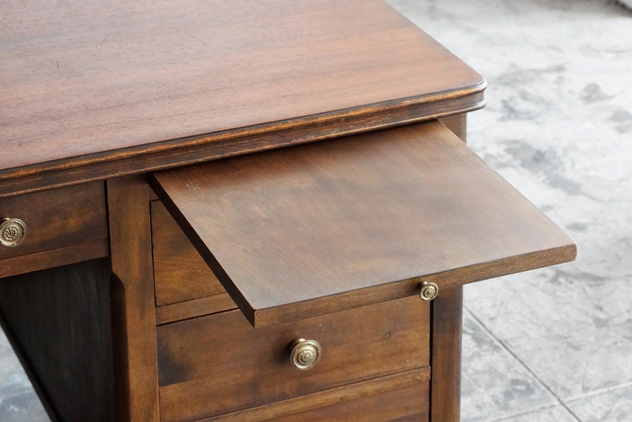 Vintage Walnut Executive Desk Hostgarcia
