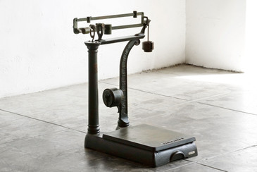 SOLD - Antique Fairbanks Platform Scale with Weights