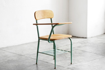SOLD - One-Piece Classroom Desk and Chair by Virco, 1959