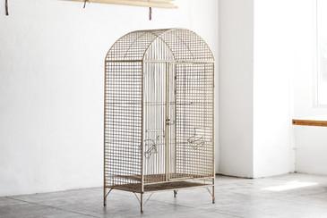 SOLD - Large Vintage Steel Birdcage, c. 1960s