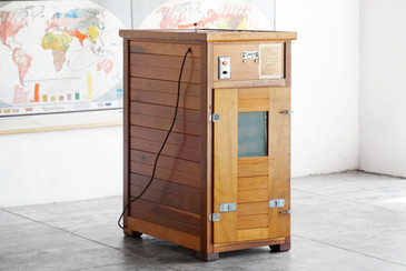 SOLD - Vintage Leahy Redwood Incubator, 1960s