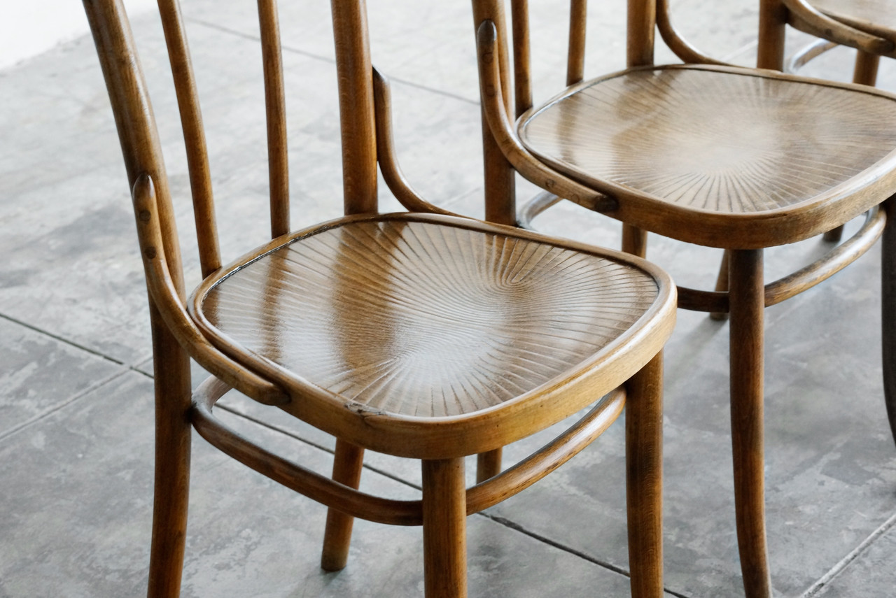 Image 1 · Image 2 ... - SOLD - Authentic Early Thonet Bistro Chairs, Set Of 4 - Rehab