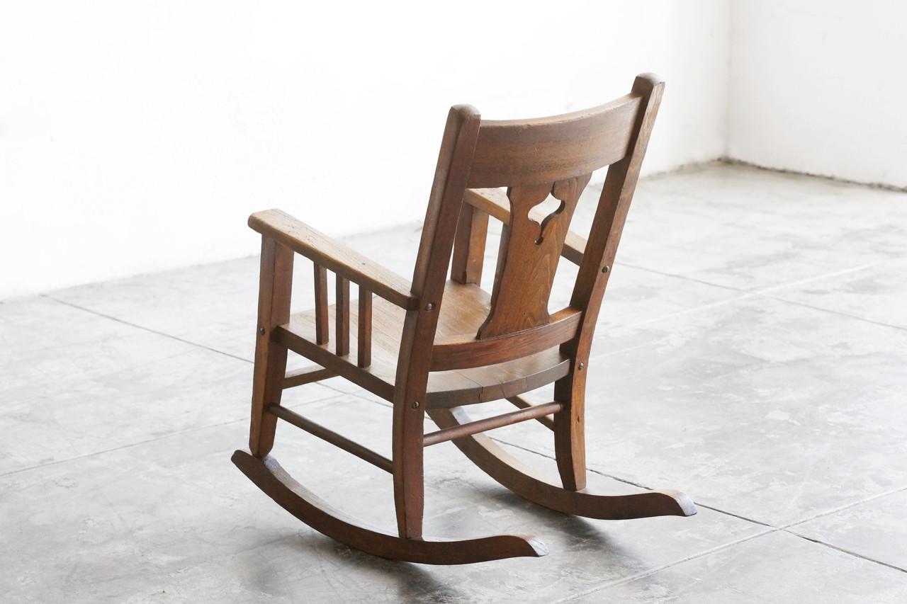 Bon SOLD   Craftsman Era Childu0027s Rocking Chair, Solid Wood