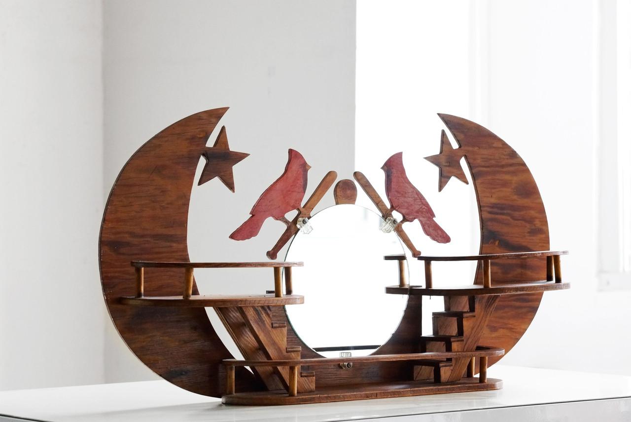 st louis cardinals folk art wall hanging rehab vintage. Black Bedroom Furniture Sets. Home Design Ideas