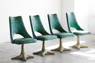 Set of 4 Chairs by Chrome Modern Los Angeles, 1960s