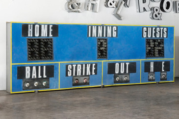 SOLD - Massive 1970s Baseball Scoreboard