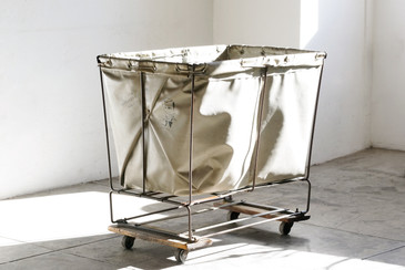 SOLD - Vintage Industrial Laundry Cart by Southern Mills, Atlanta GA