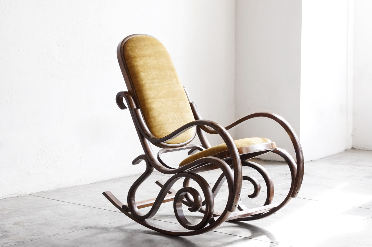 Bentwood Rocking Chair - SOLD - Thonet Style Bentwood Rocking Chair ...