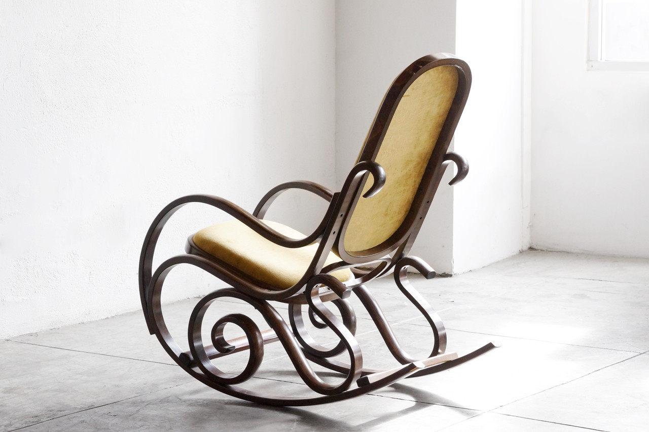 Bentwood rocking chair - Sold Thonet Style Bentwood Rocking Chair