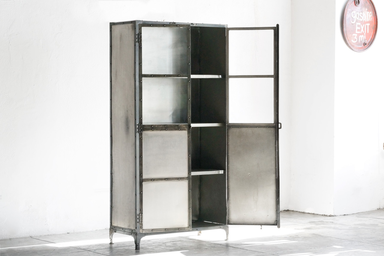 Metal Glass Display Cabinet Sold Vintage Industrial Steel Display Cabinet Rehab Vintage