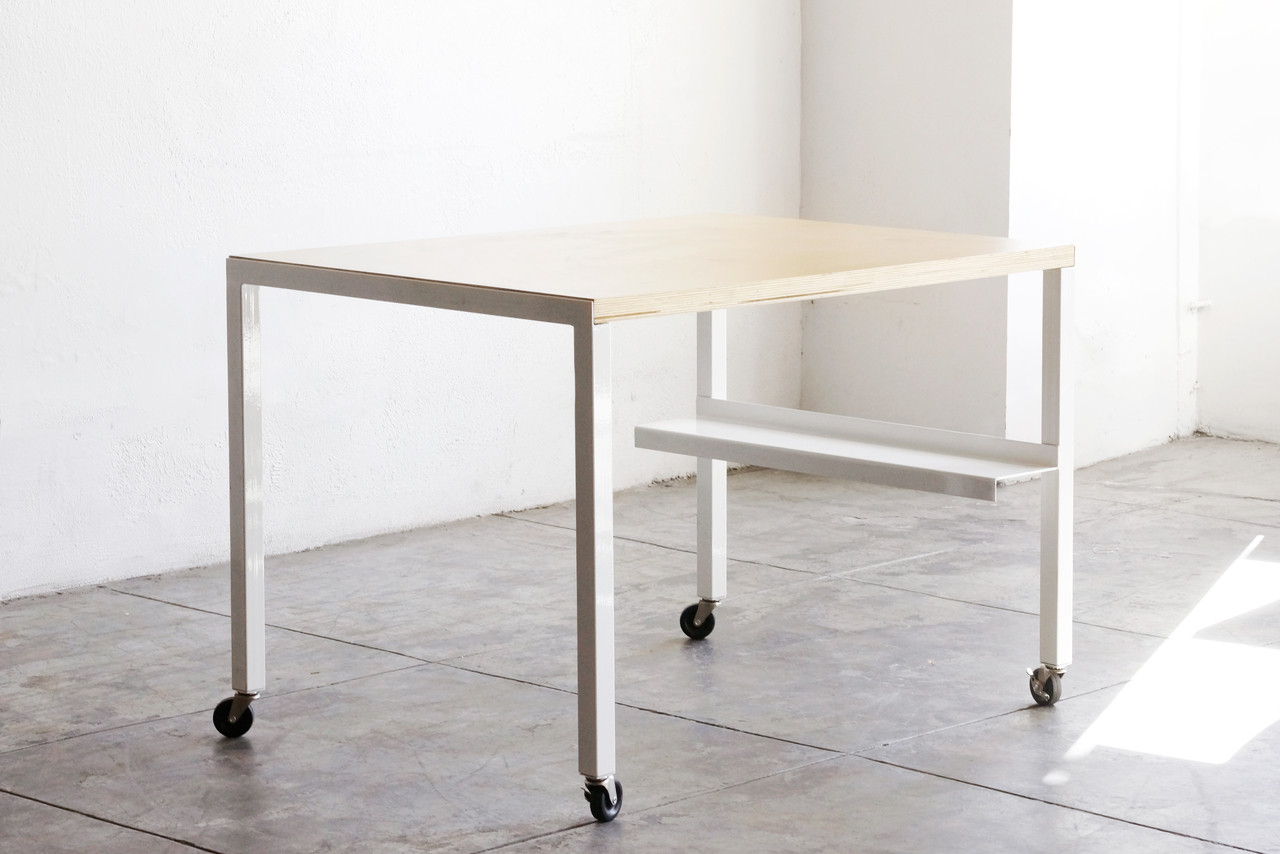 Rehab Original   Steel And Wood Modular Work Table