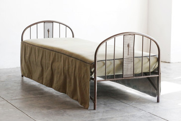 SOLD - Antique American Metal Cot/ Daybed