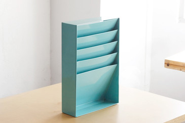 SOLD  - Retro File Holder/ Magazine Rack, Refinished