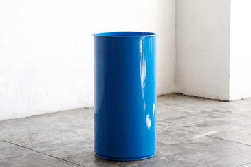 SOLD - Large 1960s Steel Trash Bin, Refinished