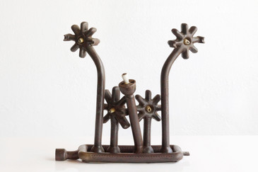 "SOLD - Brutalist ""Burner"" Sculpture from 1920s Mayco Stove"