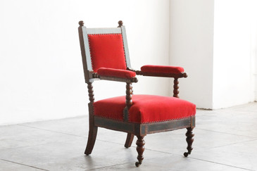 SOLD - Antique Barley Twist Armchair c. 1875