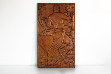 SOLD-WPA Carved Wood Relief, circa 1935