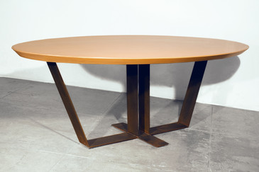 20th Century Custom Oak Top Table, 1990s