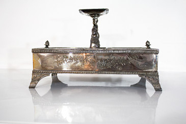 SOLD - Southington Co. Silver Humidor, circa 1900