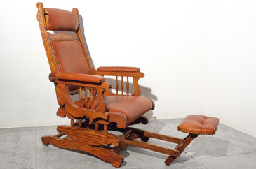 SOLD - Victorian Platform Rocker with Foot Rest.  C. 1890