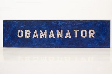 "SOLD - Obamanator ""Political Folk Art"" Painting, 2008"