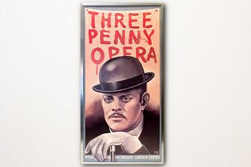 "Original ""Three Penny Opera"" Stage Play Poster, 1976"