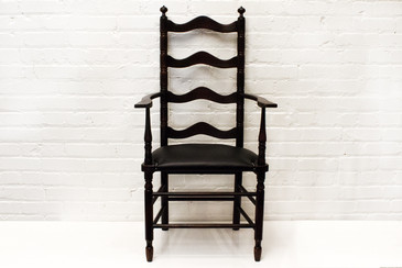 SOLD - Sleek Ladder Back Chair, circa 1900