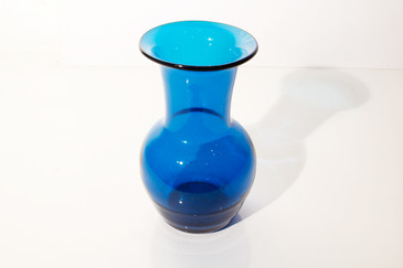 Transparent Blue Vase