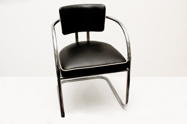 SOLD - Pair of 1950s Chromecraft Cantilever Armchairs