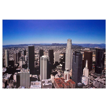 SOLD - Panoramic Photo of Downtown Los Angeles, circa 2000