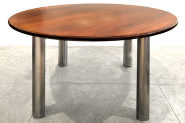 Round Walnut Conference Table, 1990s