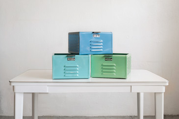 1950s Locker Baskets Refurbished in Pastel Hues