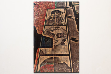 Marilyn Monroe Street Art Photograph on Wood
