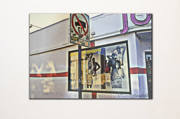 SOLD - No Trucks Joyrich Melrose Streetscape Photo on Wood
