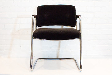 Refinished Steelcase Chrome Armchair, circa 1990