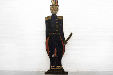 "Folk Art ""Bobby"" from J. Sloan's Bar, West Hollywood, CA, circa 1920"