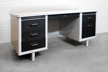Refurbished Steelcase Tanker Desk. C. 1965 - CUSTOM ORDER