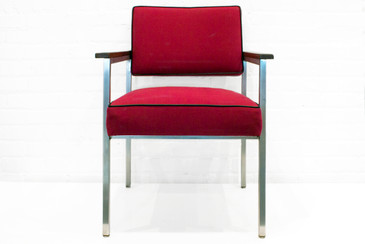 Set of 3 General Fireproofing Armchairs. C. 1980