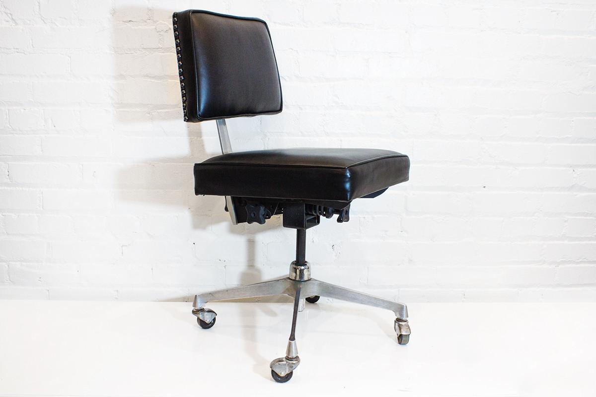 SOLD   Mid Century Cast Aluminum Task Chair C. 1960