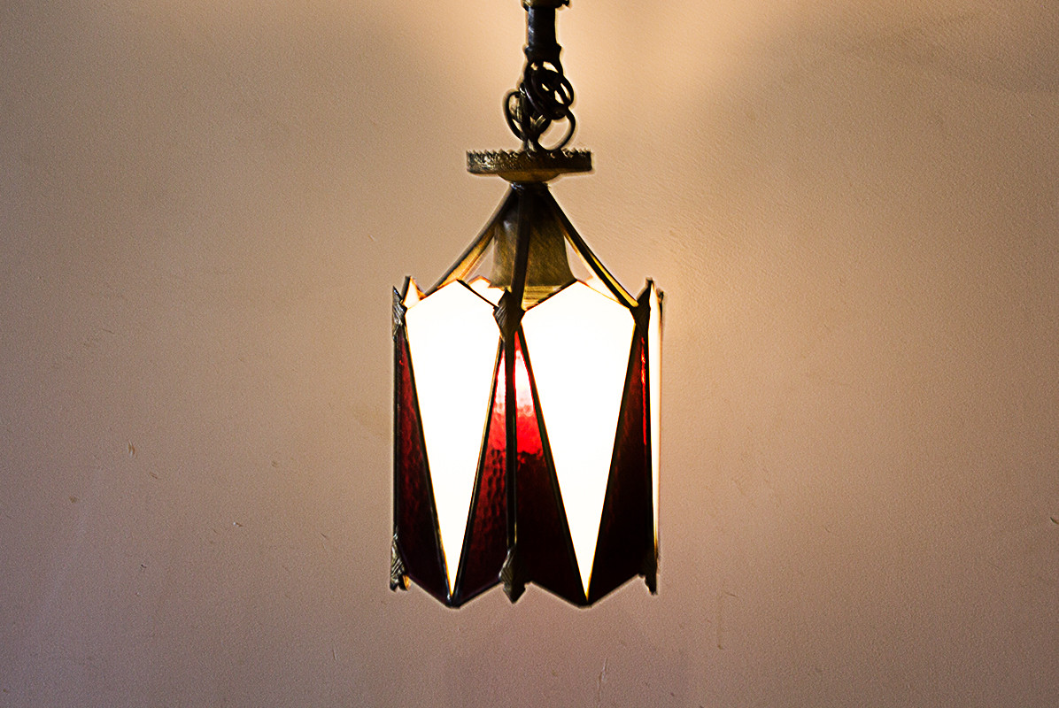 Sold art deco stained glass pendant lamp circa 1920 rehab sold art deco stained glass pendant lamp circa 1920 mozeypictures Gallery