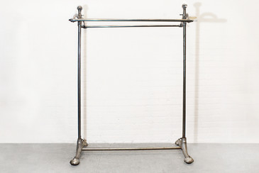 SOLD - Superb Art Deco Rolling Clothes Rack, 1920s