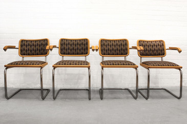 SOLD - Set of Four Marcel Breuer Cantilever Chairs