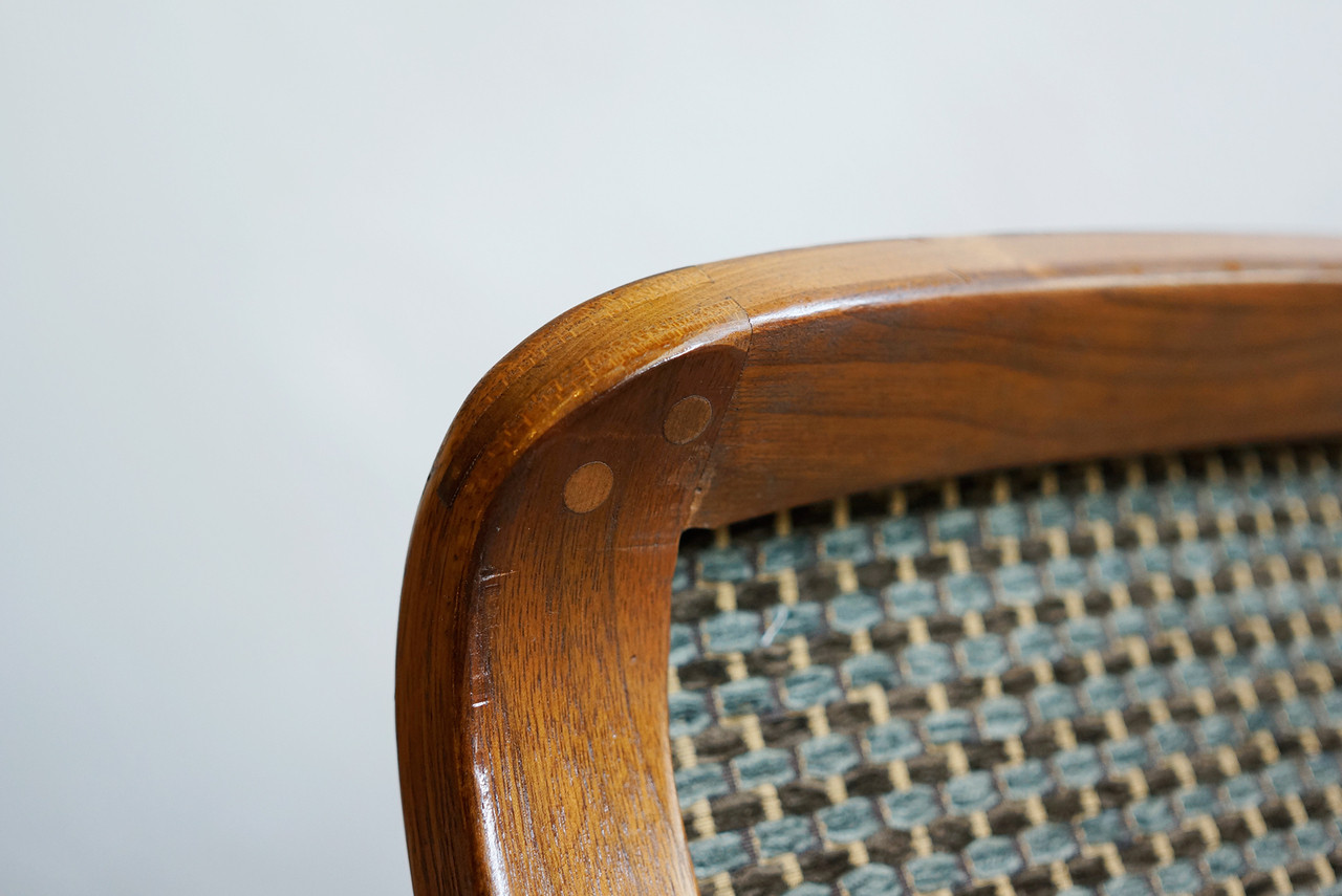 SOLD   Knoll Arm Chair With Bent Wood Arms, Classic