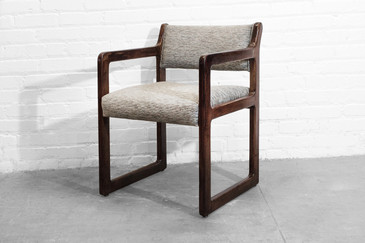 Geometric Oak Armchair, circa 1980s