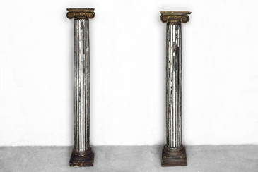 SOLD - Italian Mirror Inlay Columns, circa 1890
