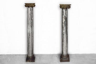 Italian Mirror Inlay Columns, circa 1890